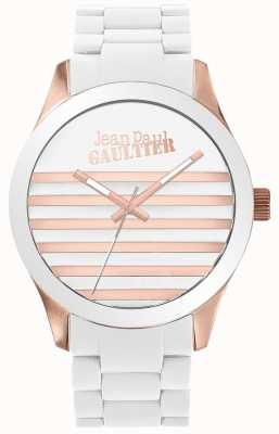 Jean Paul Gaultier Enfants terribles unisex branco e rosa de borracha de ouro JP8501126