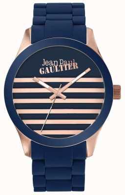 Jean Paul Gaultier Enfants terríveis unisex azul e rosa de ouro relógio de borracha JP8501127