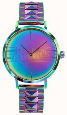 Jean Paul Gaultier Relógio de metal de efeito arco-íris das mulheres más rapariga JP8505706