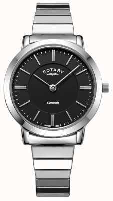 Rotary Relógio de pulseira de aço inoxidável de Londres das mulheres em expansão LB00765/04