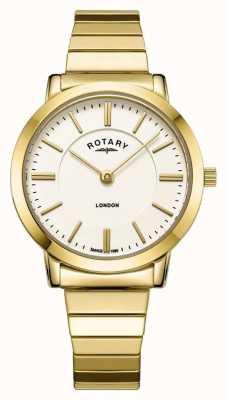 Rotary Relógio de pulseira de aço inoxidável das mulheres londres ouro em expansão LB00766/03