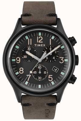 Timex Mens mk1 sst crono 42 milímetros caso preto mostrador preto TW2R96500