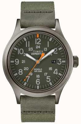 Timex Batedor de expedição relógio pulseira de tecido verde TW4B14000D7PF