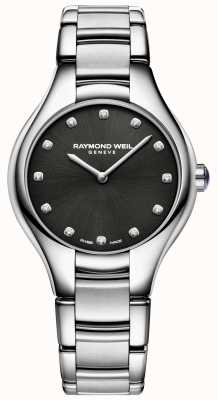 Raymond Weil Dial de conjunto de diamante negro de noêmia de mulheres 5132-ST-20081