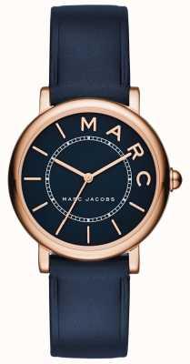 Marc Jacobs Couro clássico da marinha do relógio das marc jacobs das mulheres MJ1539