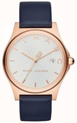 Marc Jacobs Womens henry watch pulseira de couro da marinha MJ1609