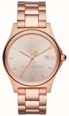Marc Jacobs Relógio de henry feminino rosa tom de ouro MJ3585