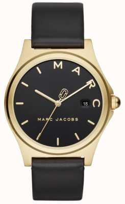 Marc Jacobs Henry das mulheres assistir pulseira de couro preto MJ1608