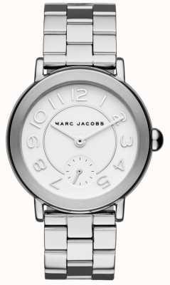 Marc Jacobs Tom de prata do relógio riley das mulheres MJ3469