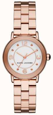 Marc Jacobs Relógio riley para mulher, tom ouro rosa (sem caixa) MJ3474