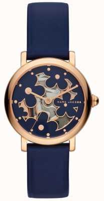 Marc Jacobs Couro clássico da marinha do relógio das marc jacobs das mulheres MJ1628