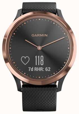 Garmin Vivomove hr atividade rastreador pretos borracha rosados ouro estojo 010-01850-06