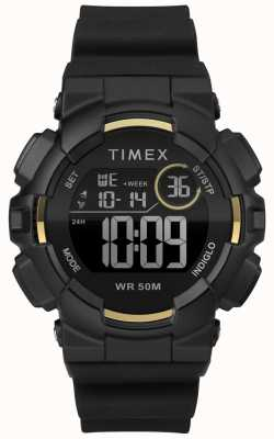 Timex Bracelete preta de 44mm para mulher TW5M23600