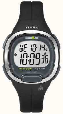 Timex Womens ironman essentials 10 preto e cromado TW5M19600