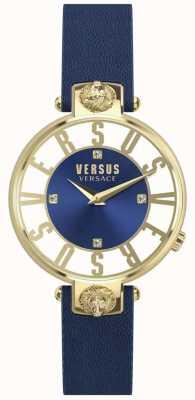 Versus Versace | mulheres | kristenhof | mostrador azul | pulseira de couro azul | SP49020018
