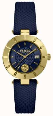 Versus Versace Womens logo blue dial pulseira de couro azul SP77220018