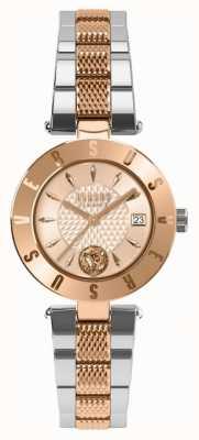Versus Versace Womens logo rose gold dial pulseira de dois tons SP77260018