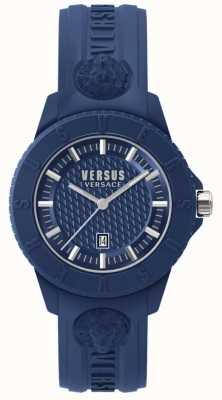 Versus Versace Tokyo r blue dial silicone azul SPOY210018