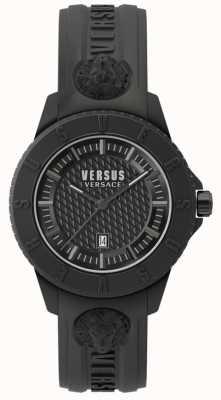 Versus Versace Bracelete de silicone preto de Tóquio SPOY230018