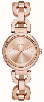 DKNY Womens eastside subiu de ouro pvd banhado NY2769
