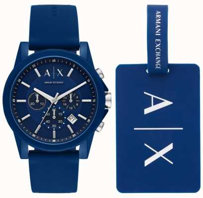 Armani Exchange Mens sport watch gift set AX7107