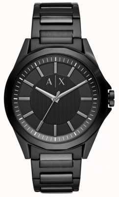 Armani Exchange Aço inoxidável preto dos homens AX2620