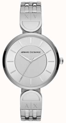 Armani Exchange Senhoras vestem relógio inox roubam AX5327