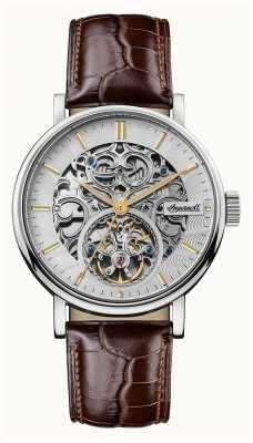 Ingersoll Mens the charles pulseira de couro marrom automático I05801