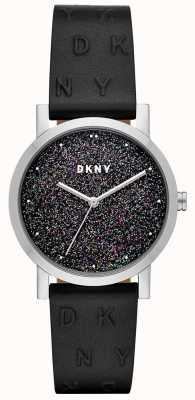 DKNY Senhoras dkny soho assistir pulseira de couro preto NY2775