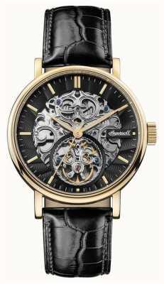 Ingersoll Mens the charles pulseira de couro preto automático I05802