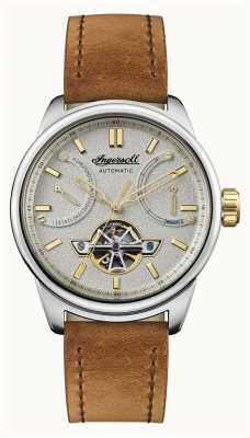 Ingersoll A pulseira de couro marrom triunfo I06702