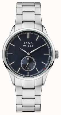 Jack Wills Mens forster pulseira de aço inoxidável mostrador azul JW004BLSL