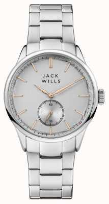 Jack Wills Mens forster prata pulseira de aço inoxidável de discagem JW004SLSL