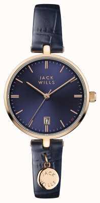 Jack Wills Bracelete de couro azul para mulher com alça azul JW005BLRG