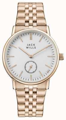 Jack Wills Discagem de mulheres buckley branco subiu pulseira de ouro pvd JW007WHRS