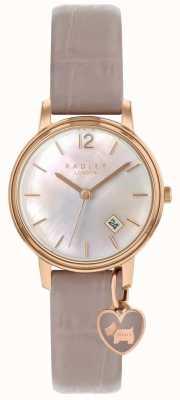 Radley Senhoras rosa cinta de teia de aranha de relógio de ouro RY2720