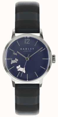 Radley Senhoras dados cão azul tinta satin dial RY2675