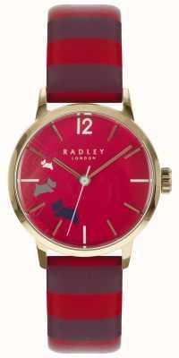 Radley Senhoras dados cão claret gloss dial couro RY2676