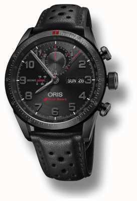 Oris Audi sport limited edition ii pulseira de couro preto automático 01 778 7661 7784-SET LS