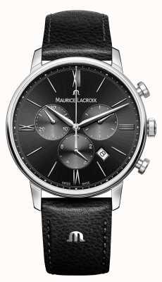 Maurice Lacroix Eliros cronógrafo mens black dial EL1098-SS001-310-1