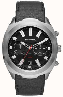 Diesel Mens tumbler watch pulseira de couro preto DZ4499