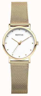 Bering Malha de ouro de relógio clássico de senhoras 13426-334