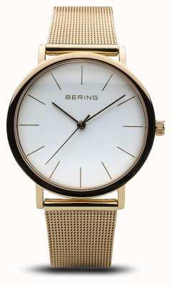 Bering Malha de ouro de relógio clássico de senhoras 13436-334