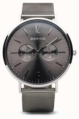 Bering Clássico | prata polida | masculino 14240-308