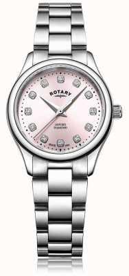 Rotary Bracelete de aço inoxidável oxford diamond dial rosa LB05092/07/D