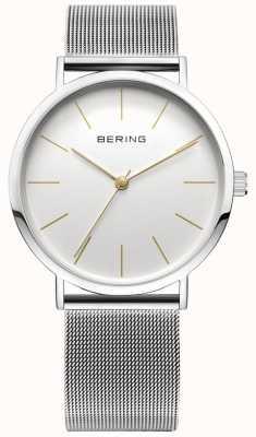 Bering Relógio de coleção clássico com banda de malha e scratch resista 13436-001
