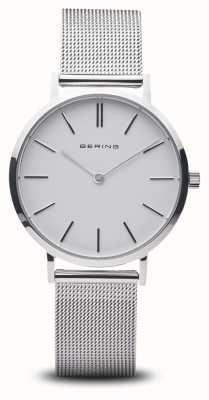 Bering Relógio de senhora clássico prata aço inoxidável 14134-004
