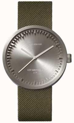 Leff Amsterdam Tubo relógio d38 cordura steel case pulseira verde LT71004
