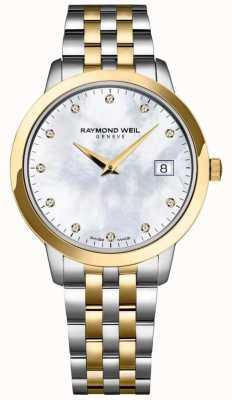 Raymond Weil Pulseira de dois tons de diamante toccata para mulher 5388-STP-97081
