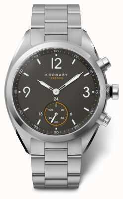 Kronaby 41mm apex mostrador preto pulseira de aço inoxidável a1000-3113 S3113/1
